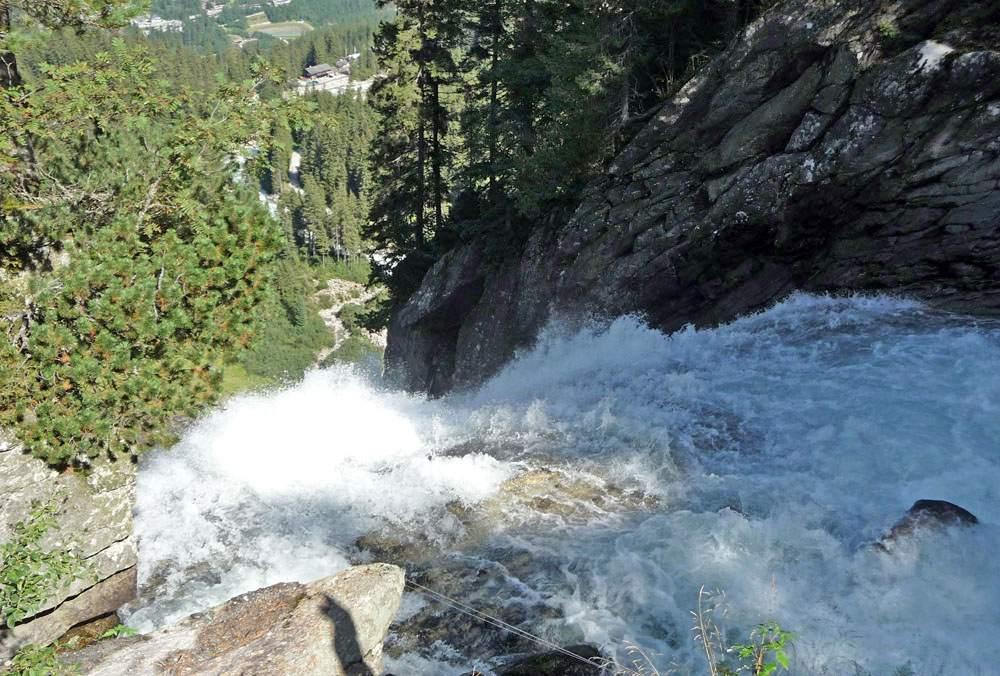 Best waterfalls in the world: Krimml waterfalls in austria from above