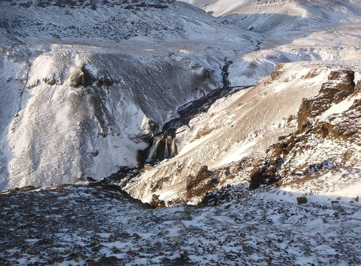 Reykjadalur in winter