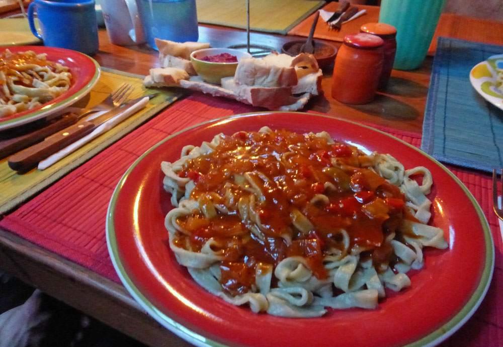 Dinner in Cochamó, Chile