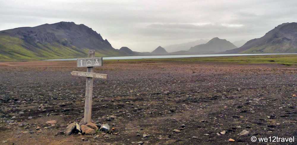 distance of hiking the laugavegur trail