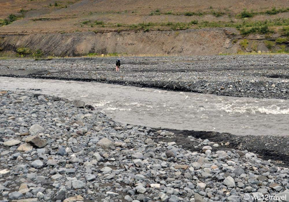 thronga river crossing while hiking the laugavegur