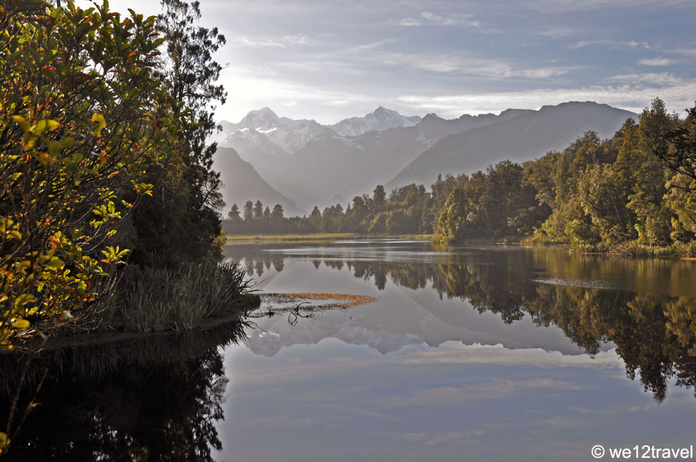Lake Matheson Reflection Point New Zealand