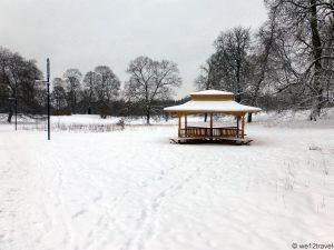 On a winter morning in Djurgården