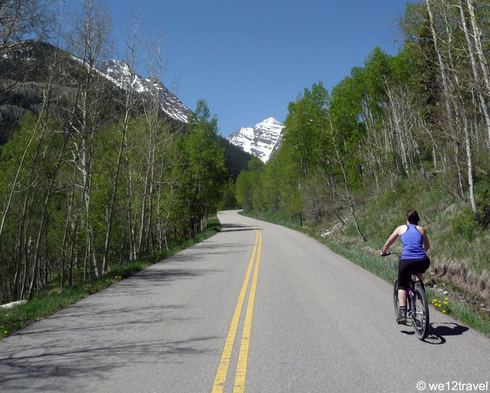 cycling to maroon bells