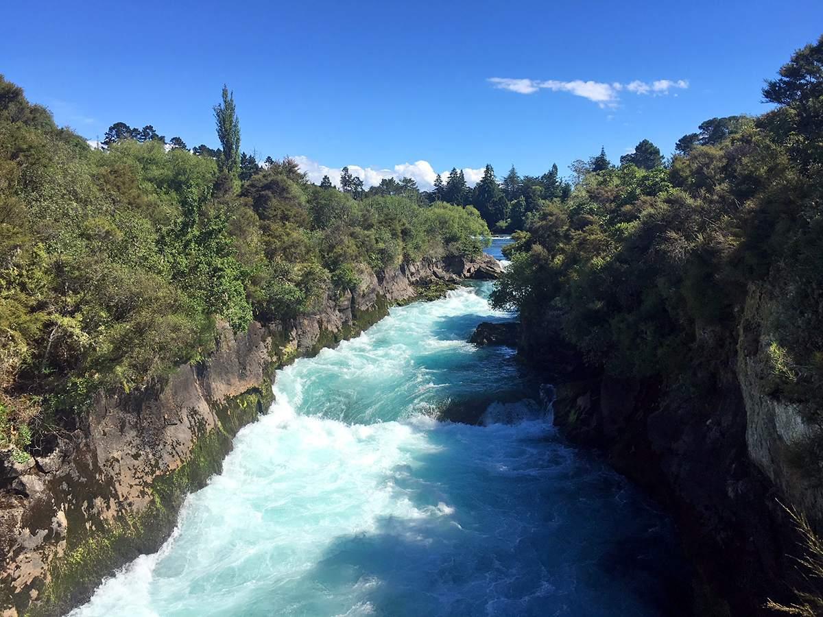 huka falls rondreis nieuw-zeeland