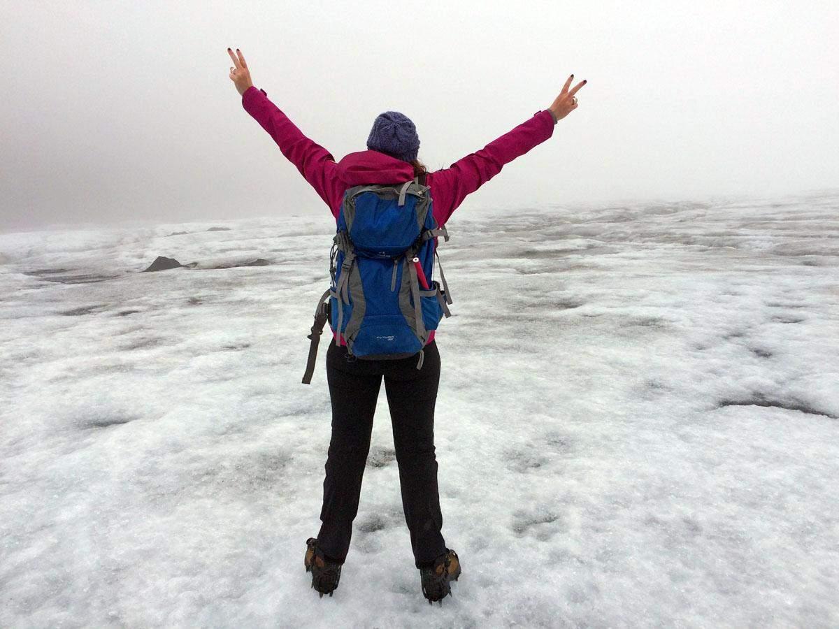 glacier hike on solheimjokull
