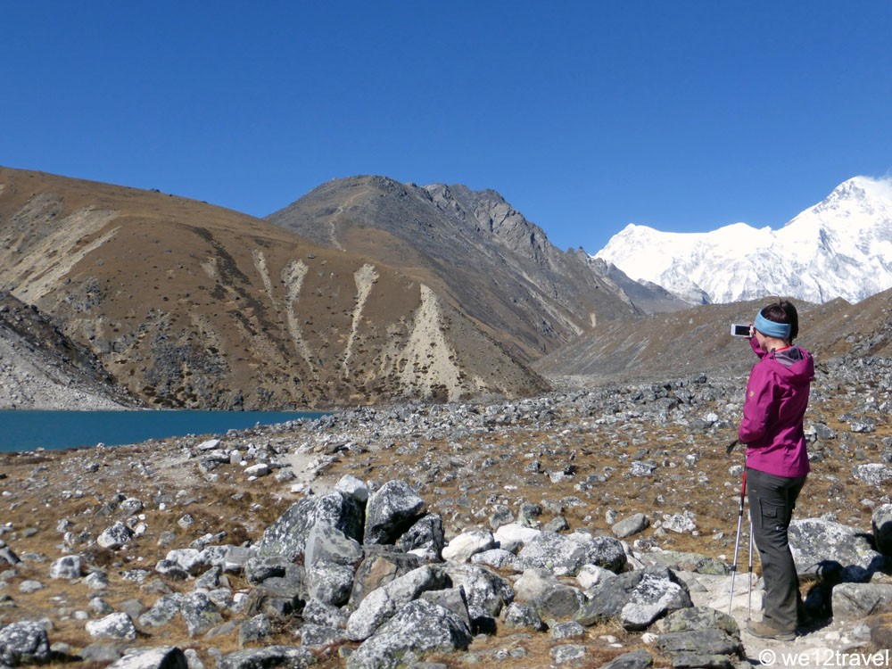 Met Cho Oyu (7e hoogste berg ter wereld) op de achtergrond!