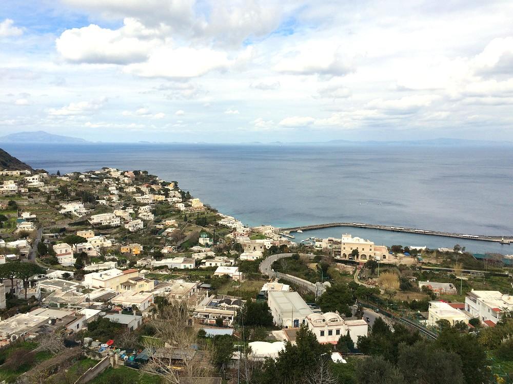 capri town in the winter