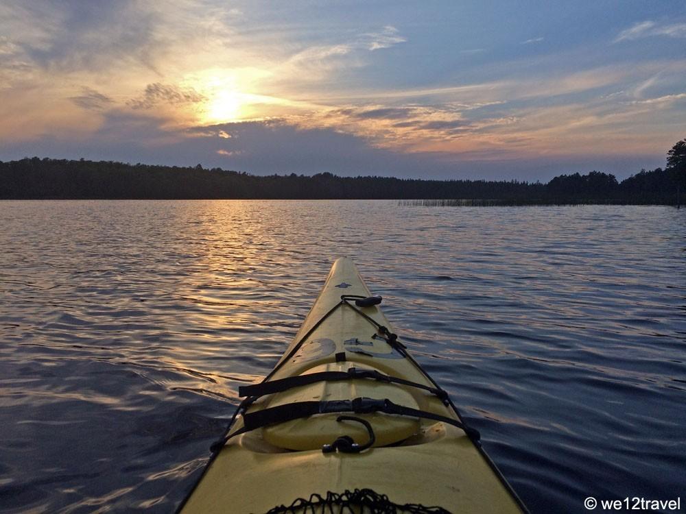 kayaking lake Asnen
