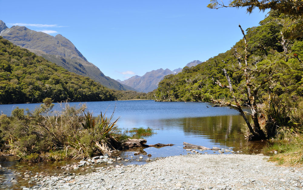 Lake Howden on the Routeburn Track