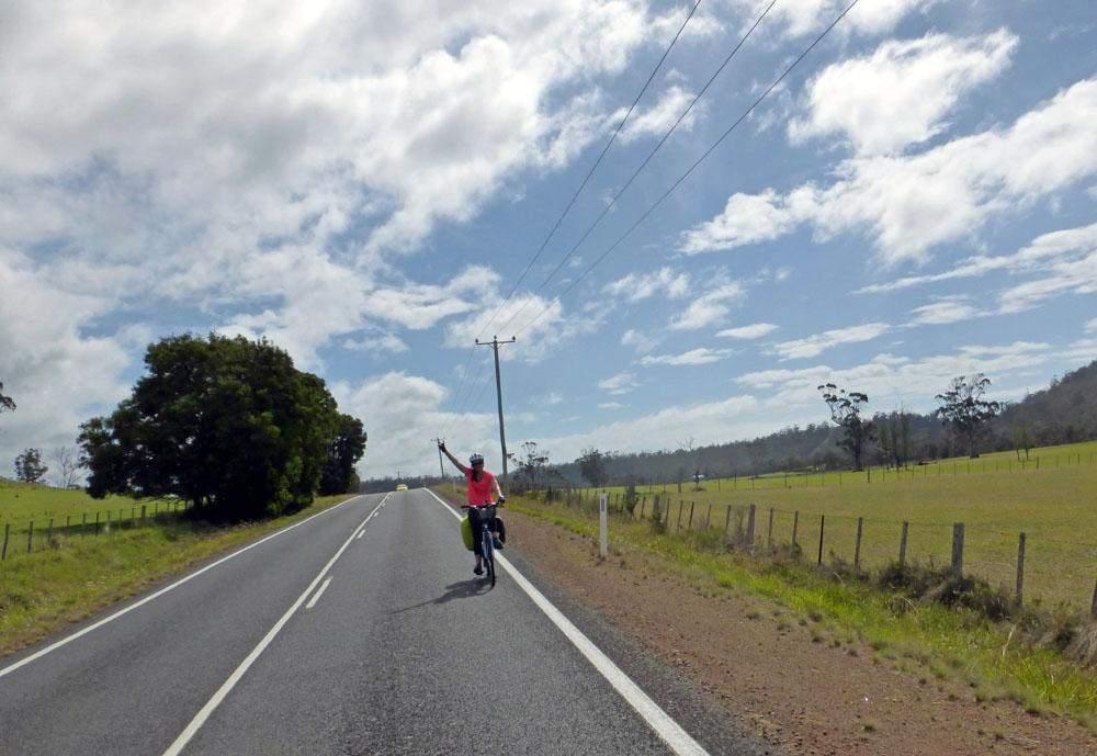 fietsen in tasmanie