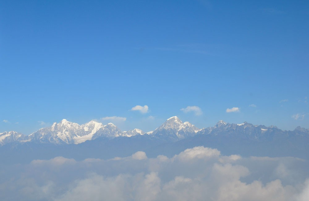 himalaya before lukla airport