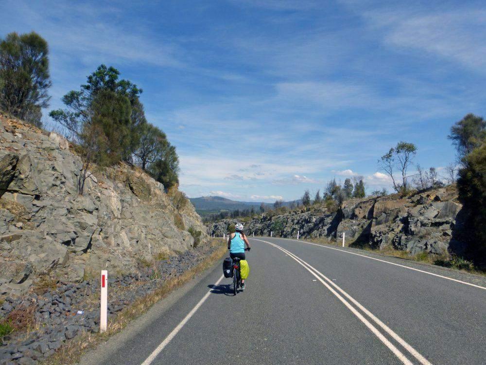 keep left biking in tasmania