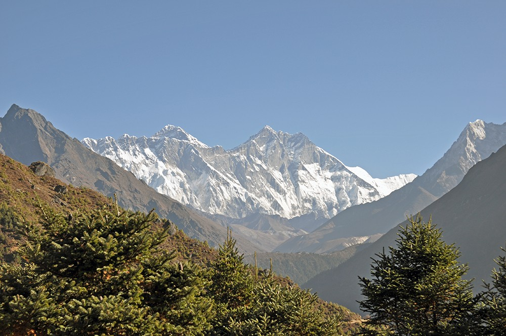 view of mount everest and lhotse