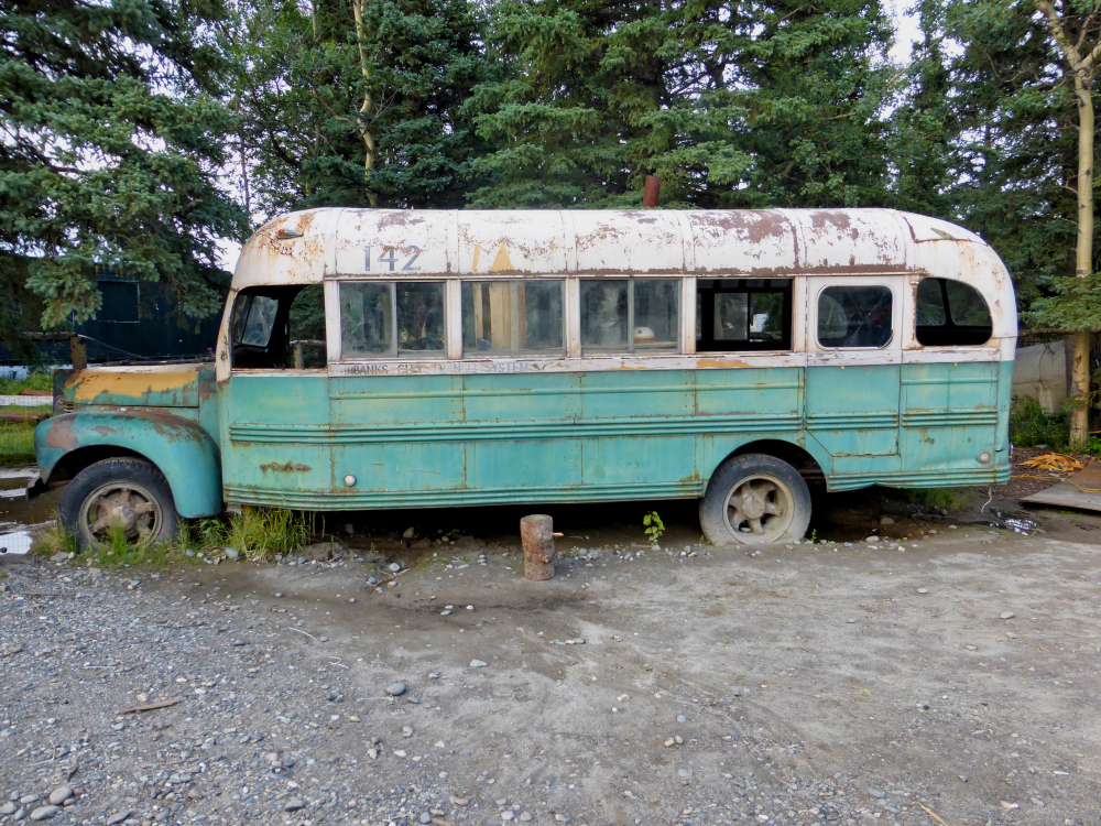 bus van into the wild