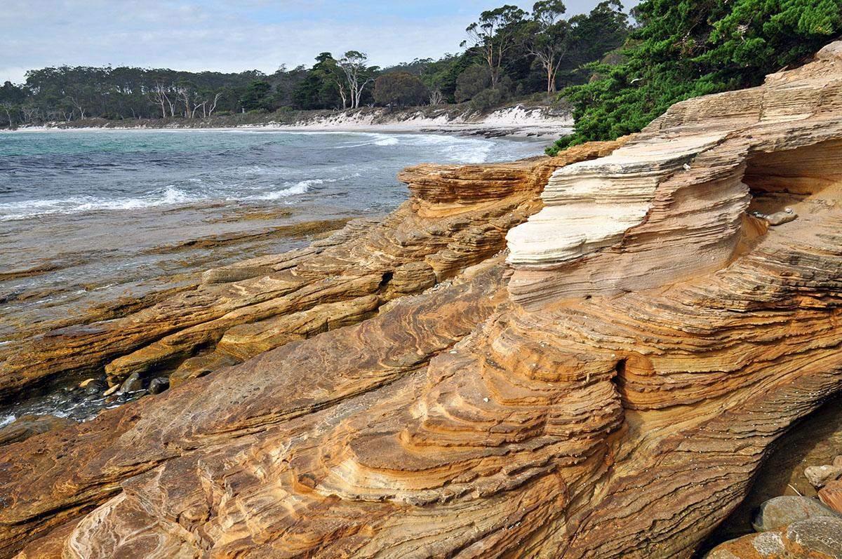 best hikes in tasmania painted cliffs maria island