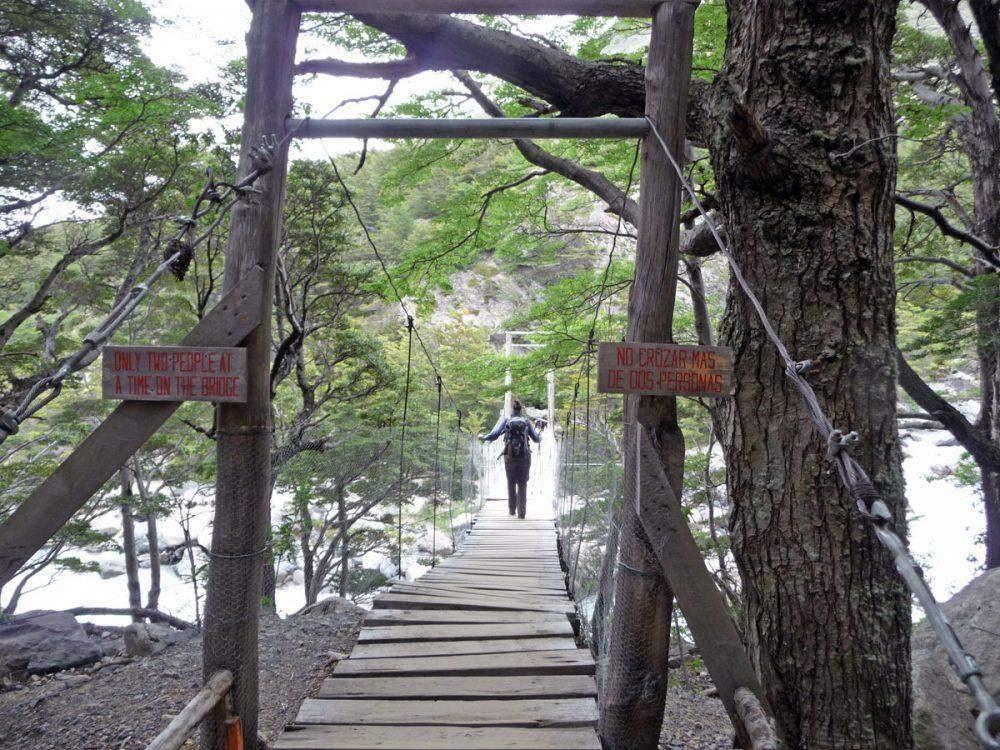 swingbridge w trek torres del paine national park