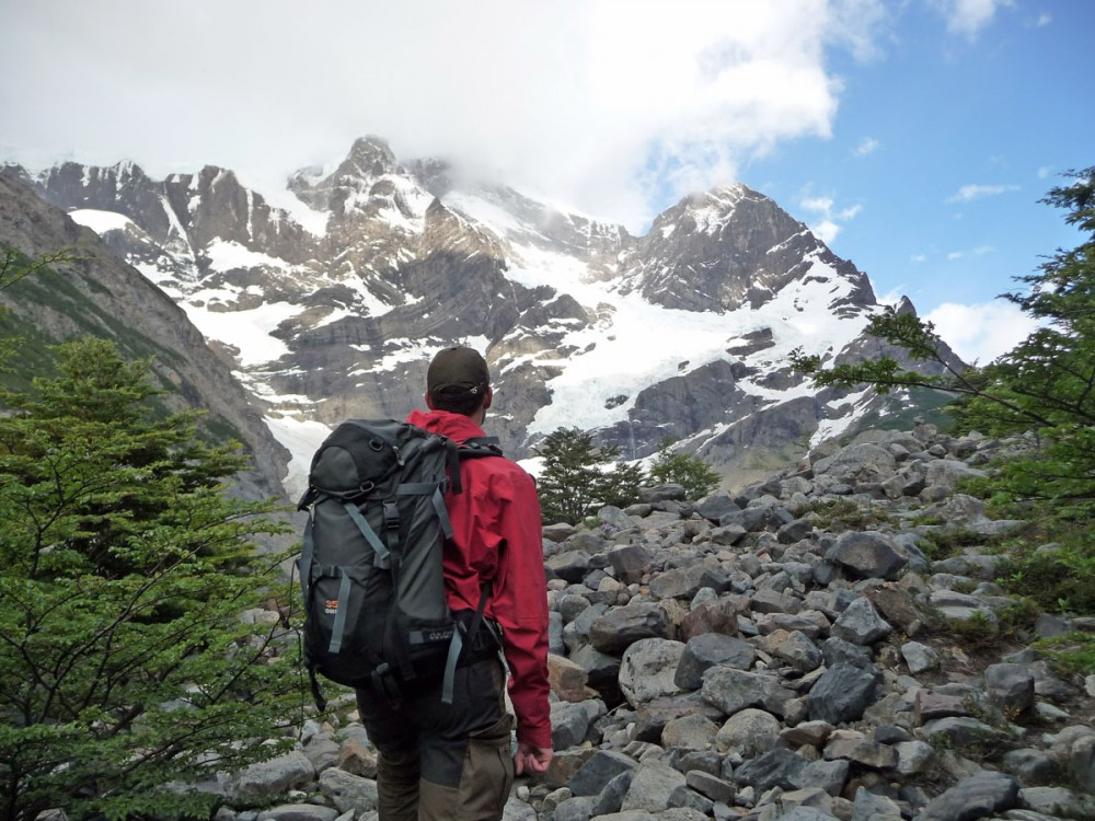 glacier frances french glacier w trekking in torres del paine national park