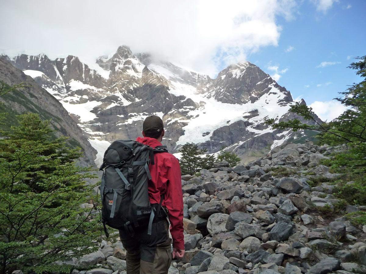 glacier frances french glacier w trek in torres del paine national park