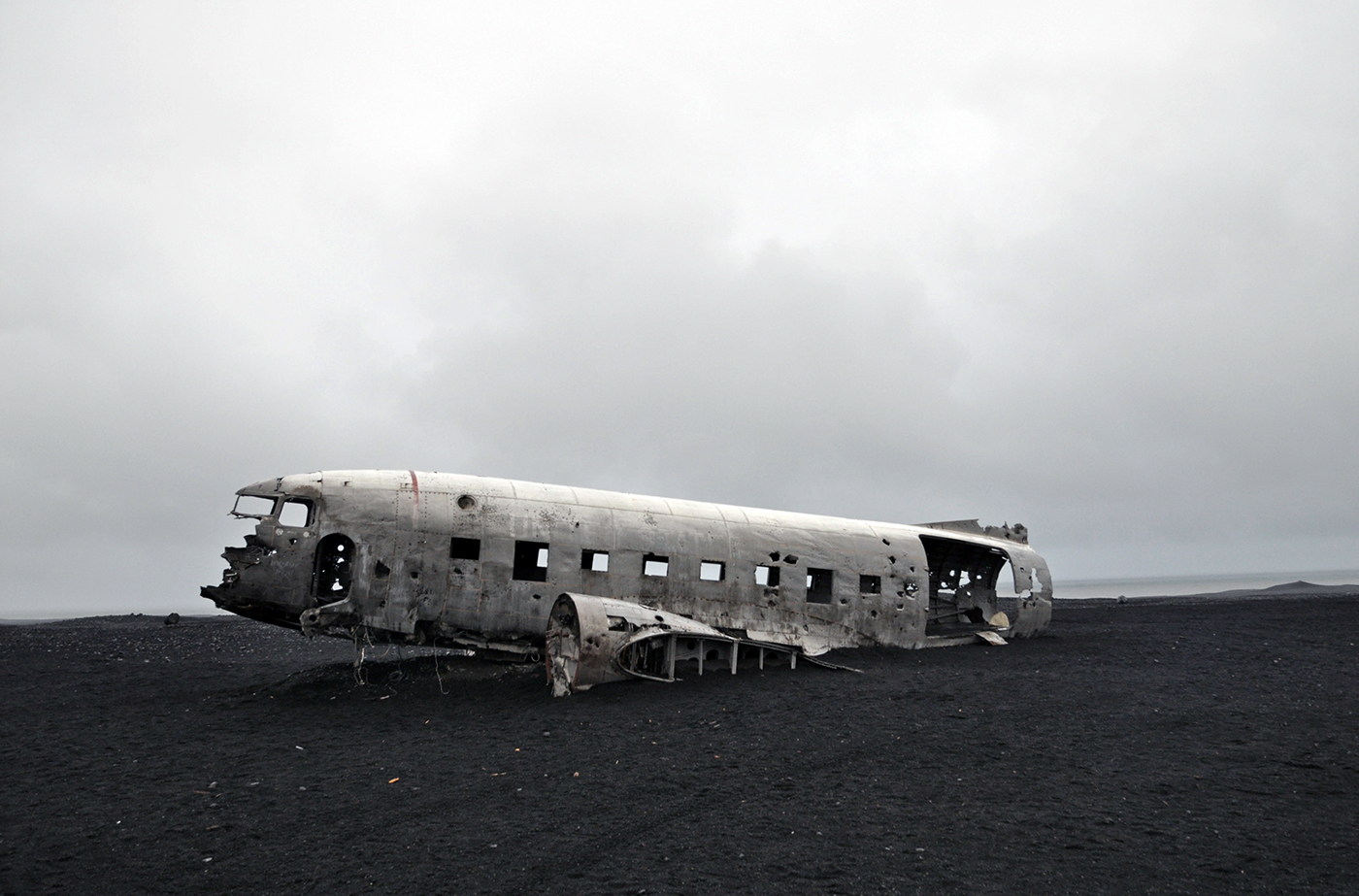DC-3 Plane wreck in Iceland South Coast
