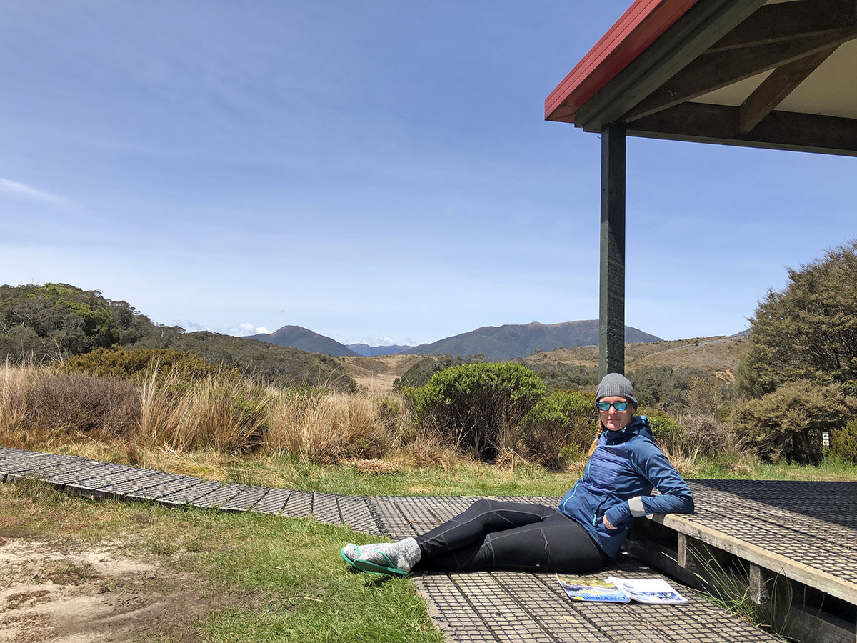 Heaphy track mountain hut