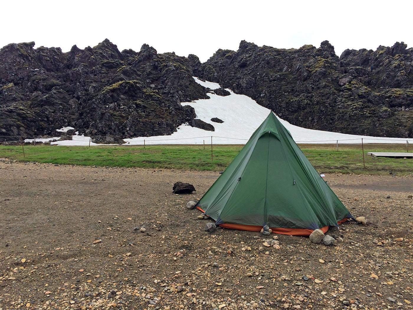 camping in landmannalaugar
