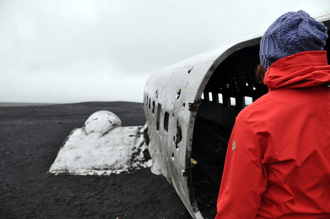 DC-3 vliegtuigwrak in IJsland