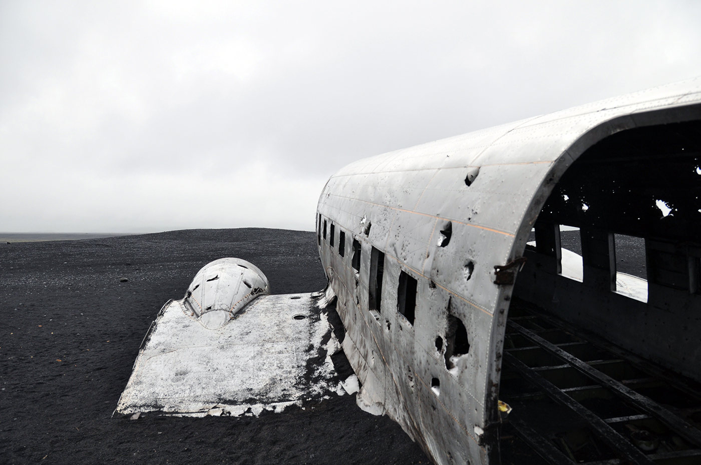 DC-3 Plane wreck Iceland South Coast