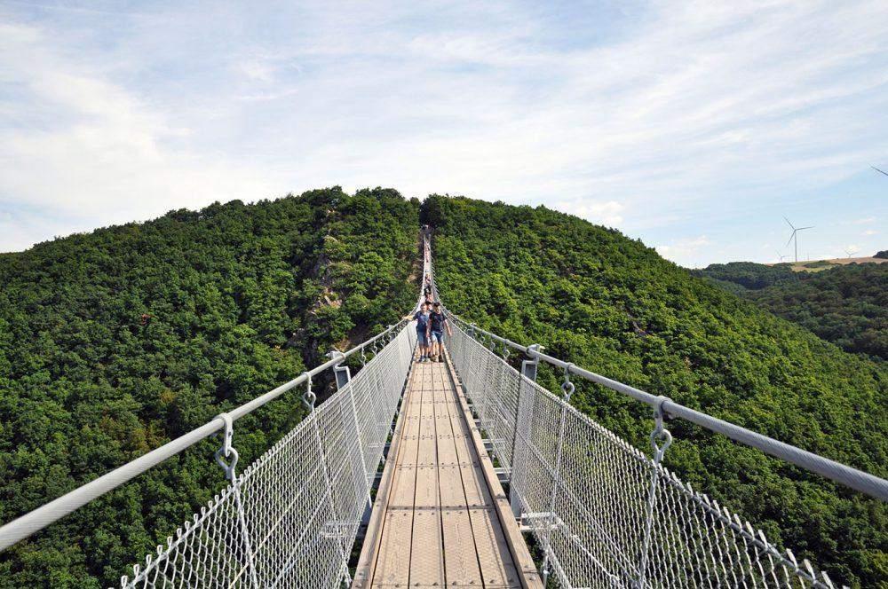 Geierlay hangbrug Duitsland Hangeseilbrucke Geierlay swingbridge Morsdorf