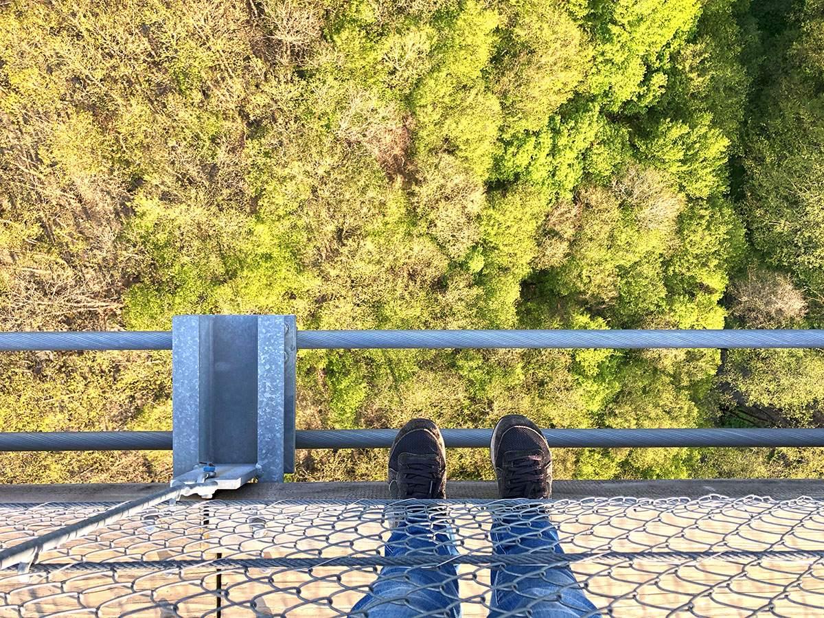 Op de Geierlay hangbrug