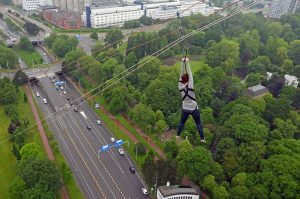 Ziplining from The Euromast in Rotterdam