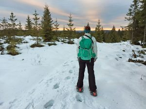 Snowshoeing in Sweden on Branäsberget