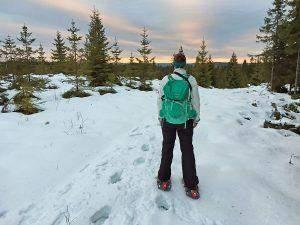Snowshoeing in Sweden on Branäsberget