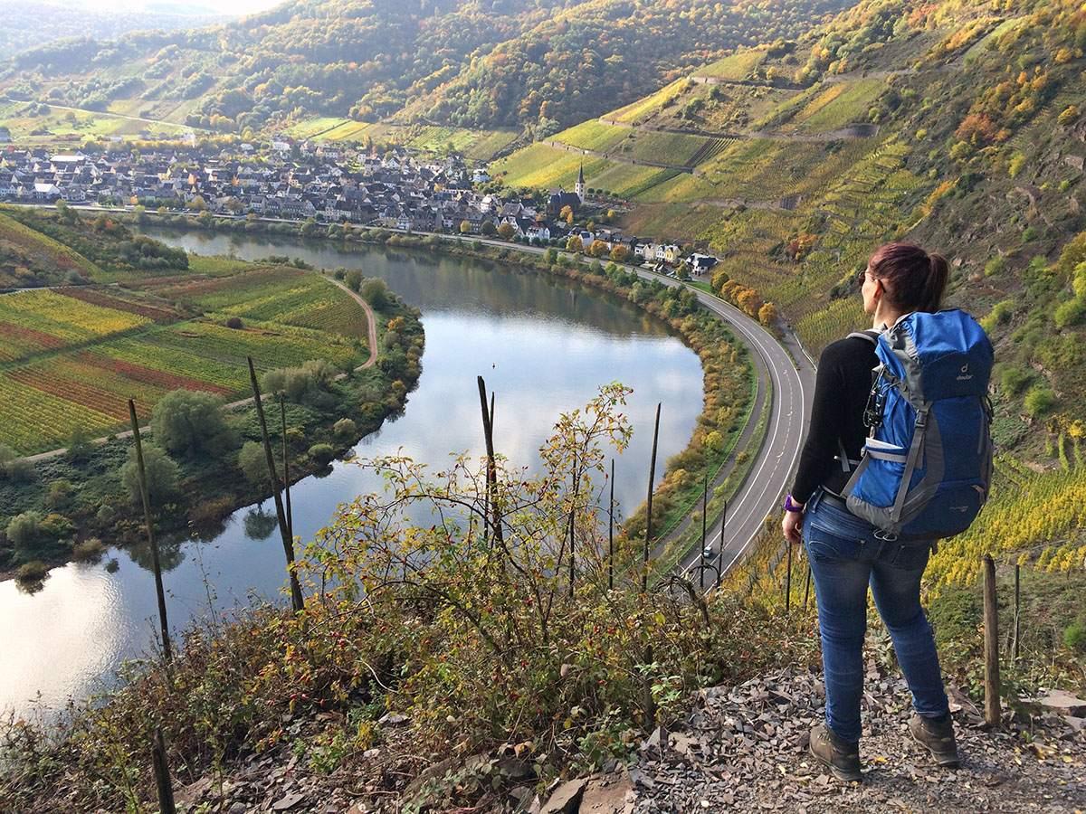 Uitzicht over de Moezel vanaf de Calmont Klettersteig