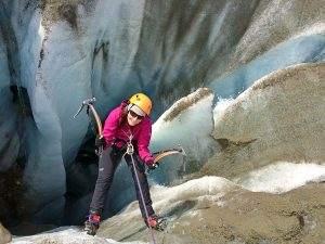 IJsklimmen in Alaska op de Root Glacier