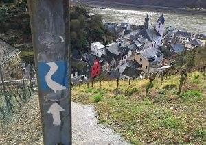 Hiking on the Rheinsteig Trail in Germany