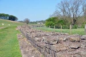 Wandelen bij Hadrian's Wall in Engeland