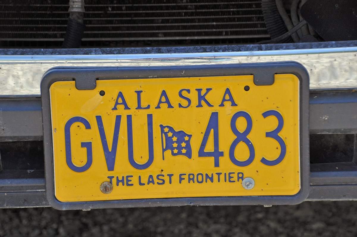 alaska number plate