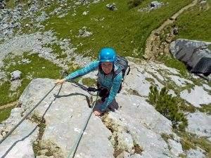 Klettersteigen bij de Achensee in Oostenrijk