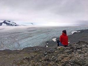 Anto aan het einde van de wereld bij Harding Icefield