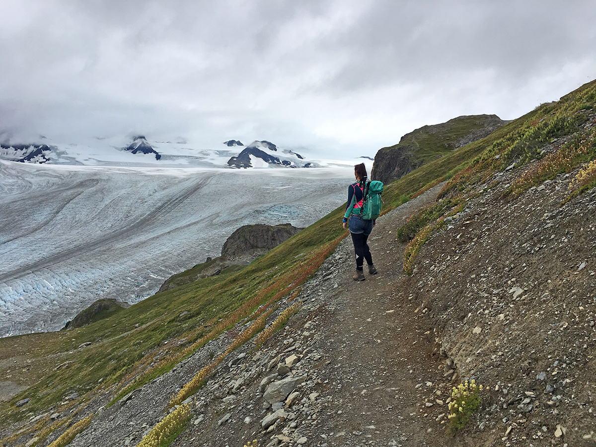 hiking the harding icefield trail alaska