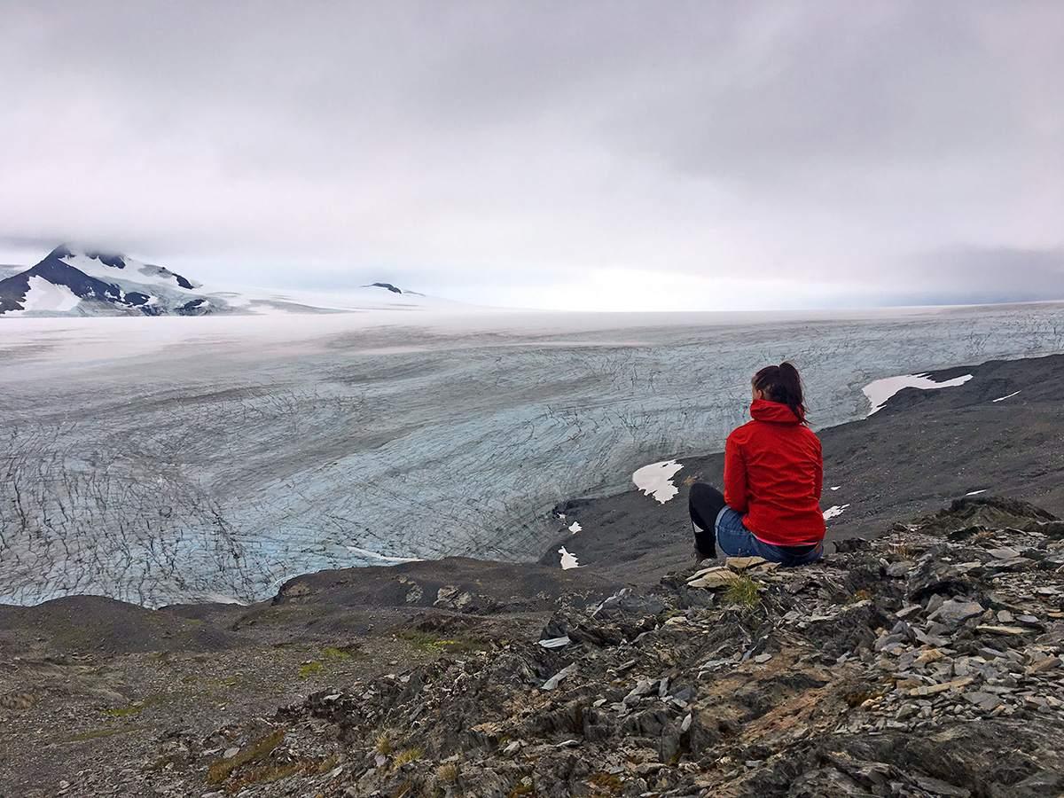 hiking the harding icefield trail alaska