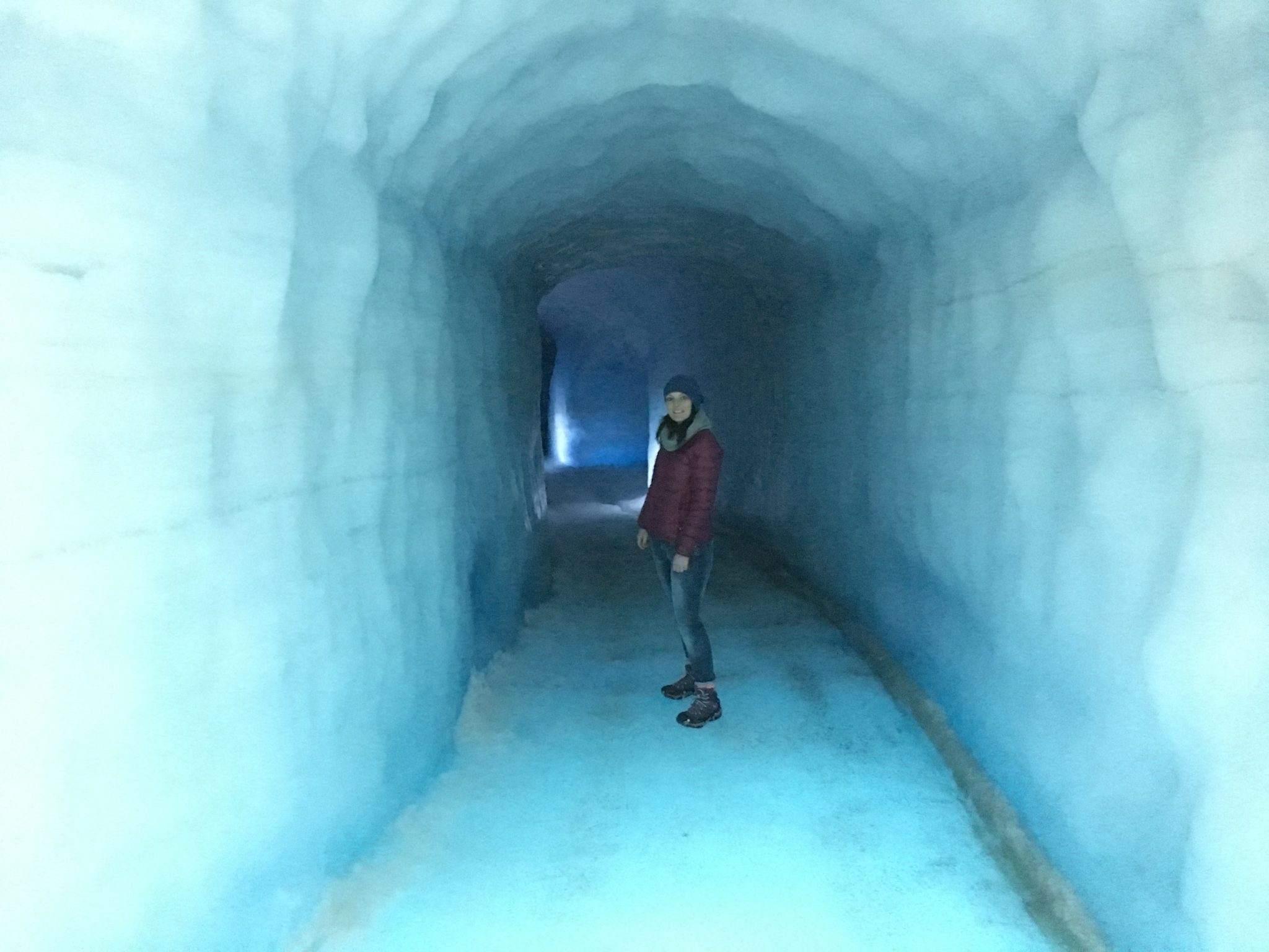 into the glacier iceland