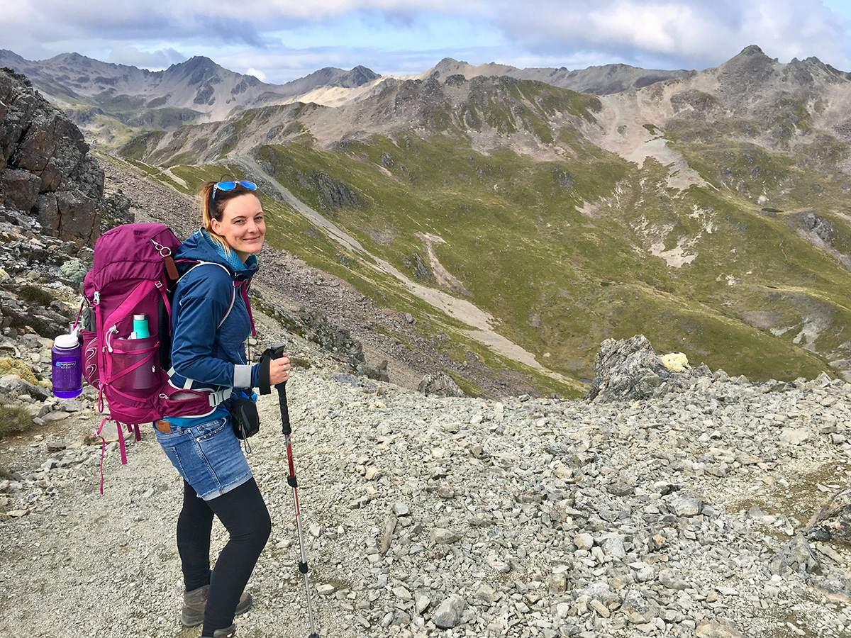 hiking to angelus hut
