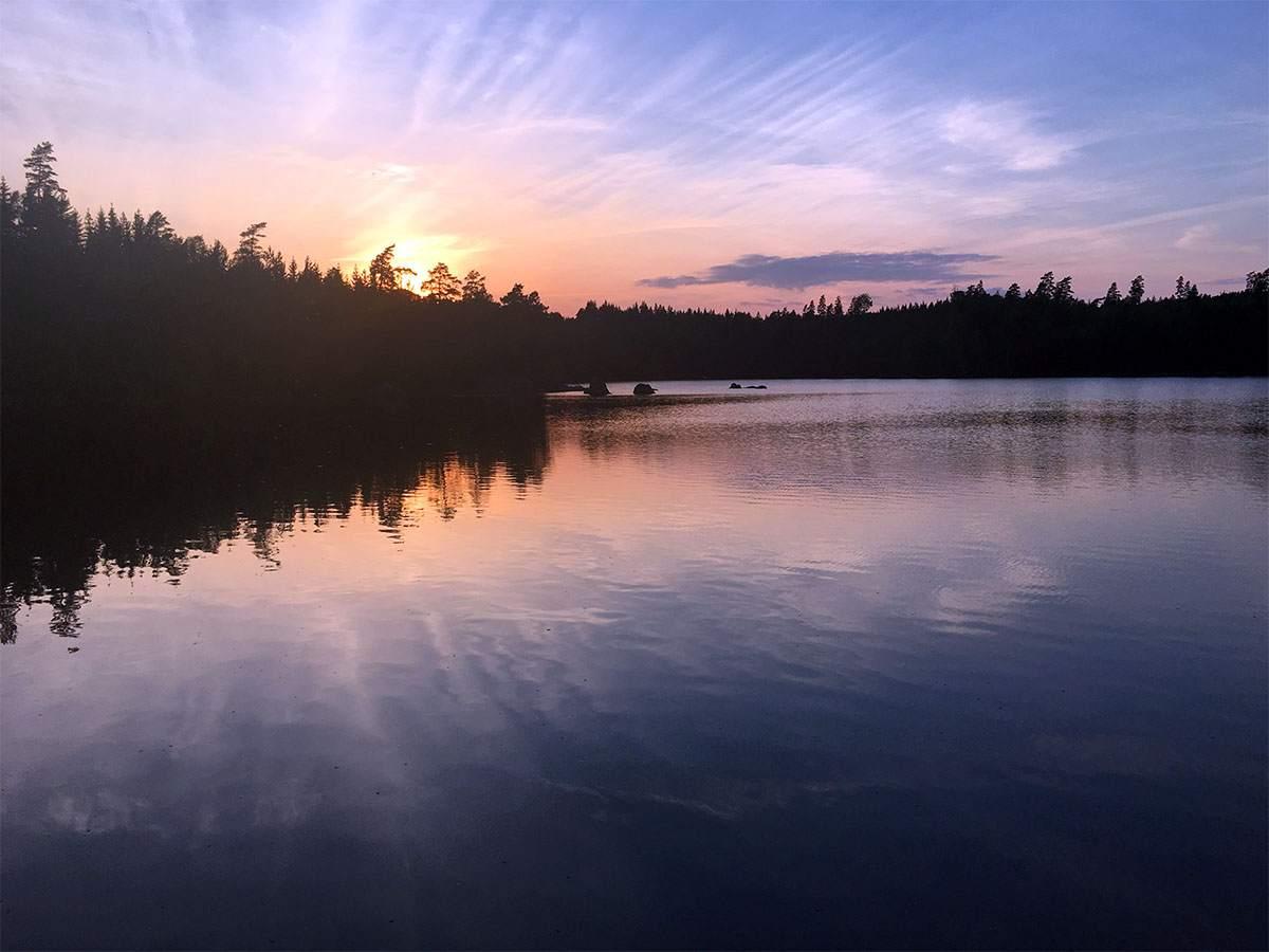 zonsondergang zweden