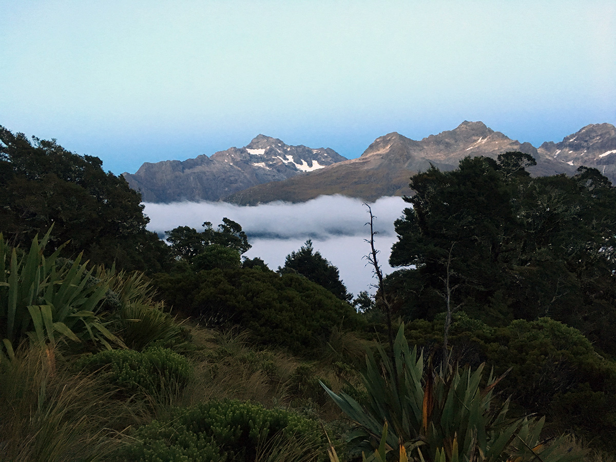 sunrise on the routeburn track