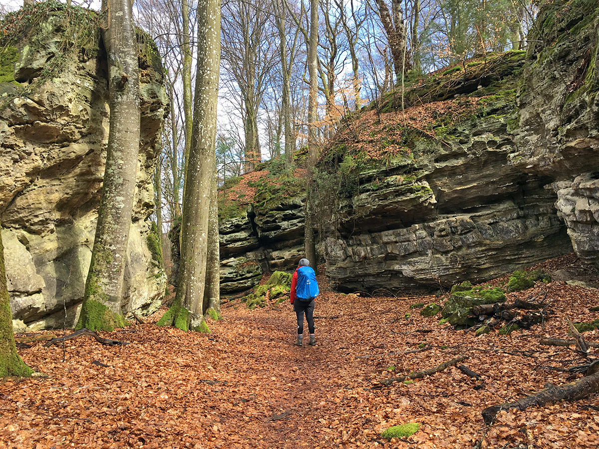 hiking the Müllerthal Trail