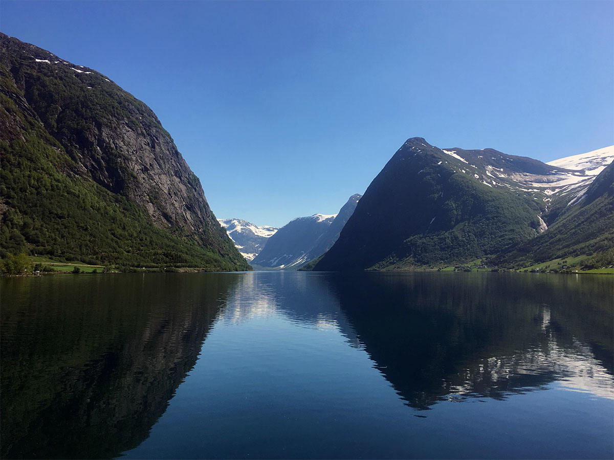 biking in fjord norway