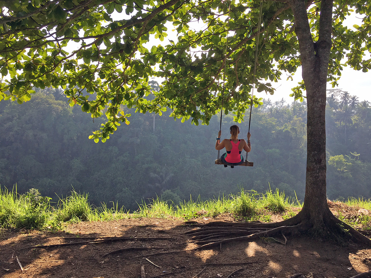 best swings in Ubud campuhan Ridge walk