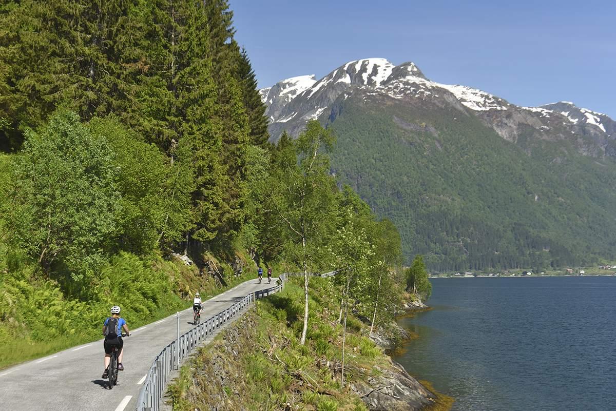 biking in Norway